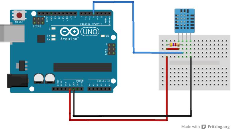 Arduino and dht sensor example « get micros
